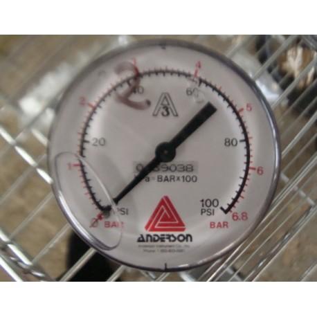 ANDERSON GAUGE 0-6 8 BAR / 0-100PSI - MotionSurplus