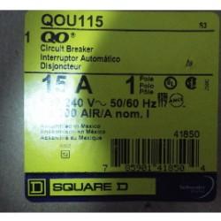 SQUARE D CIRCUIT BREAKER QOU115 15A