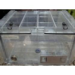BEL-ART SCIENCEWARE SECADOR DESICCATOR CLEAR CABINET LABORATORY BOX