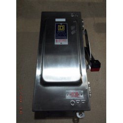 SQUARE D H361DS SWITCH FUSIBLE HD 30A 3P STAINLESS