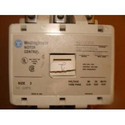 WESTINGHOUSE A201K3CA CONTACTOR 90AMP 3POLE 120VAC NEMA3