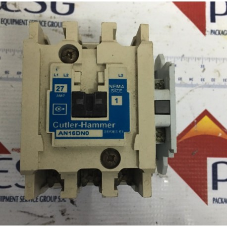 Details about CUTLER HAMMER CONTACTOR AN16DN0 W/ OVERLOAD RELAY AND AUXILLARY CONTACT & MOUNT