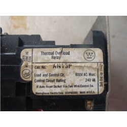 WESTINGHOUSE OVERLOAD RELAY AN13P