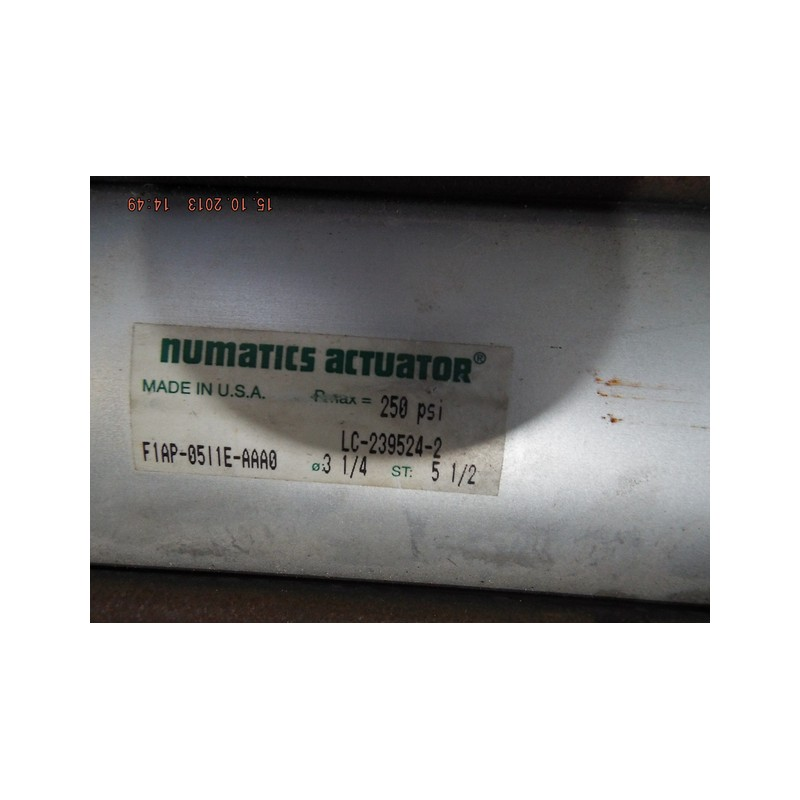 NUMATICS ACTUATOR AIR CYLINDER F1AP 0SI1E AAA0 - MotionSurplus