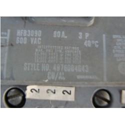 WESTINGHOUSE CIRCUIT BREAKER 90AMP 3POLE 600VAC HFB3090