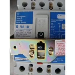 WESTINGHOUSE FDB3040L CIRCUIT BREAKER 40AMP 3POLE 600VAC